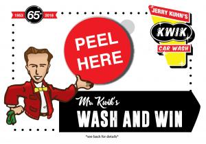Mr. Kwik's Wash and Win Peel off